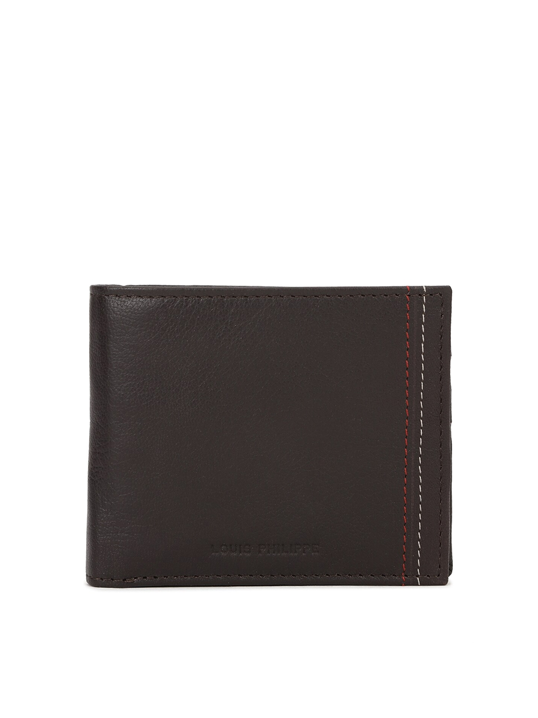 Louis Philippe Men Brown Solid Wallets