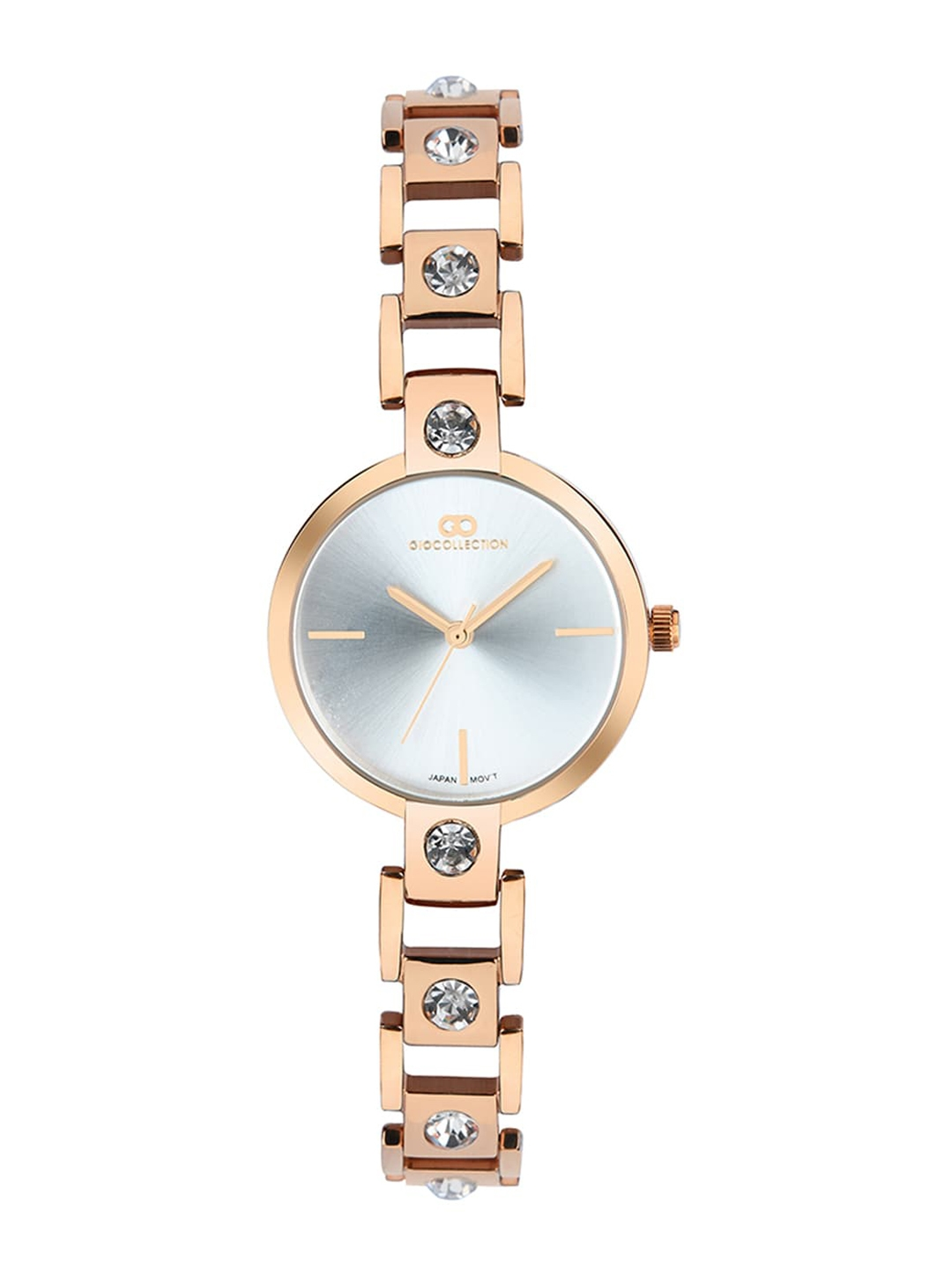 GIO COLLECTION Women Silver Toned Analogue Watch