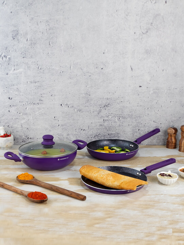 Wonderchef Set Of 3 Purple Cookware Set