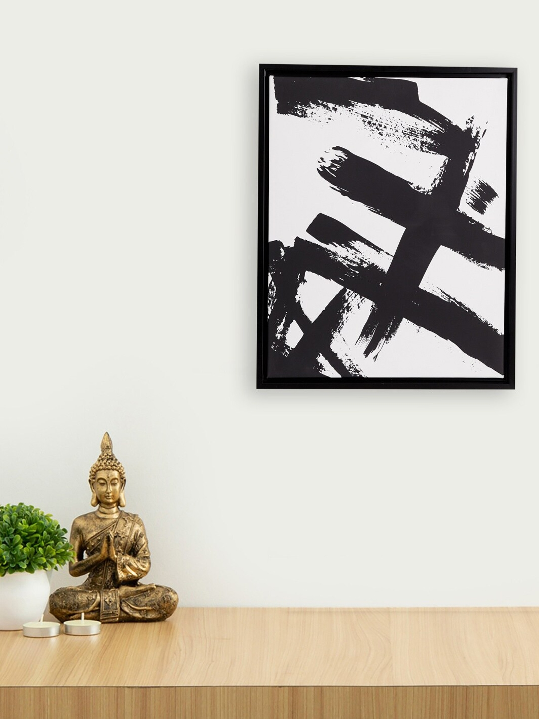 Homecentre Black 1 Picture Frame Artistry Abstract Brush Stroke Picture Frame   40 x 50 cm