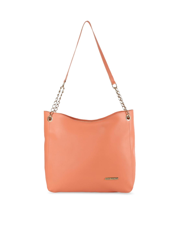 Bagsy Malone Peach PU Shopper Shoulder Bag