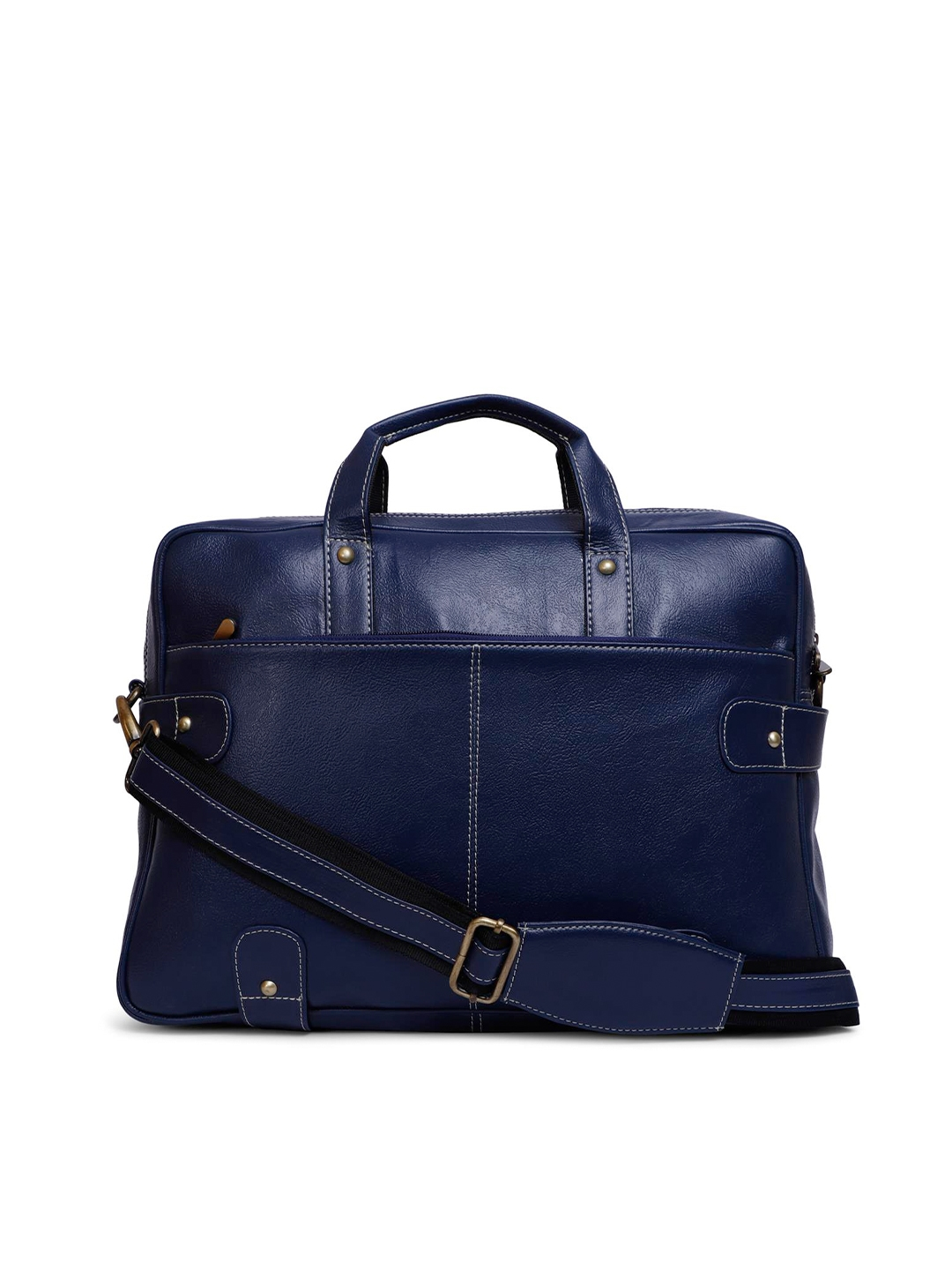 Bagsy Malone Blue Leather 15 Inch Laptop Bag