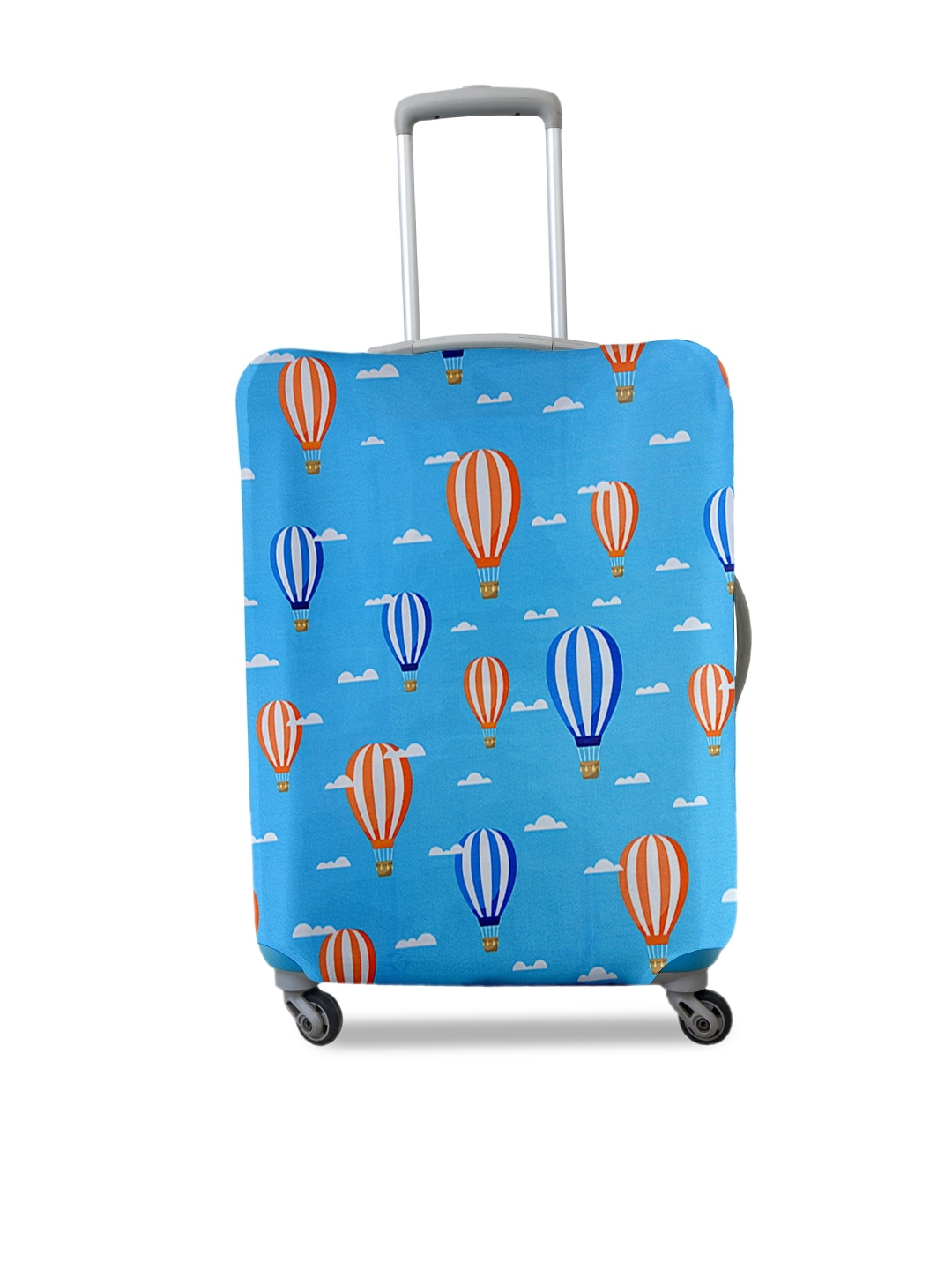 Cortina Blue Printed Large Trolley Bag Cover