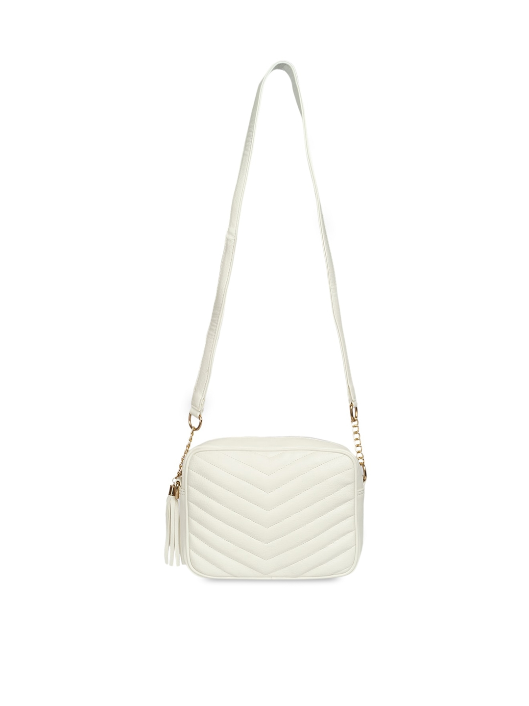 Lychee bags White Quilted Handheld Bag