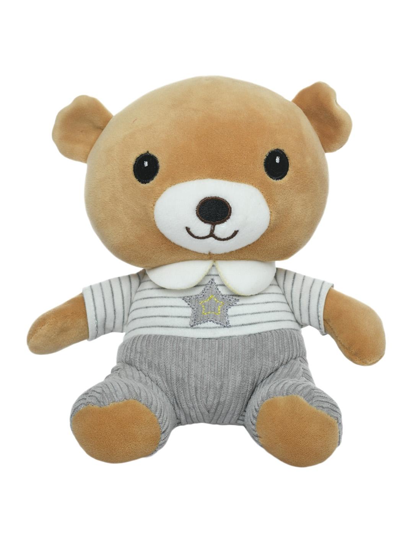 DukieKooky Kids Brown   Grey Teddy Bear Soft Toy