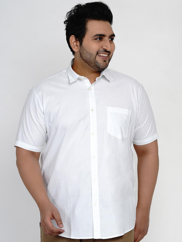 John Pride Men White Casual Shirt