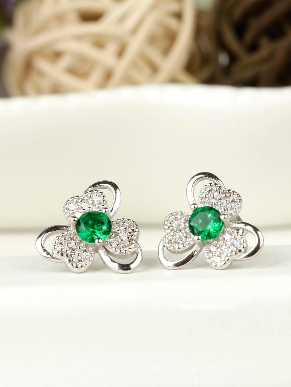 GIVA Green 925 Sterling Silver Antique Earrings