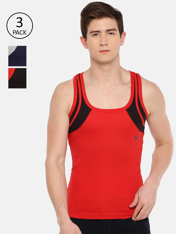 Dollar Bi gboss Men Pack Of 3 Assorted BB18 Innerwear Vests