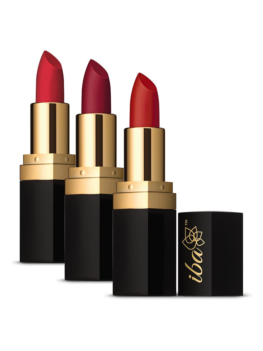 Iba Pack of 3 Halal Care Lipstick Combo 5   Festive Red Matte Long Stay