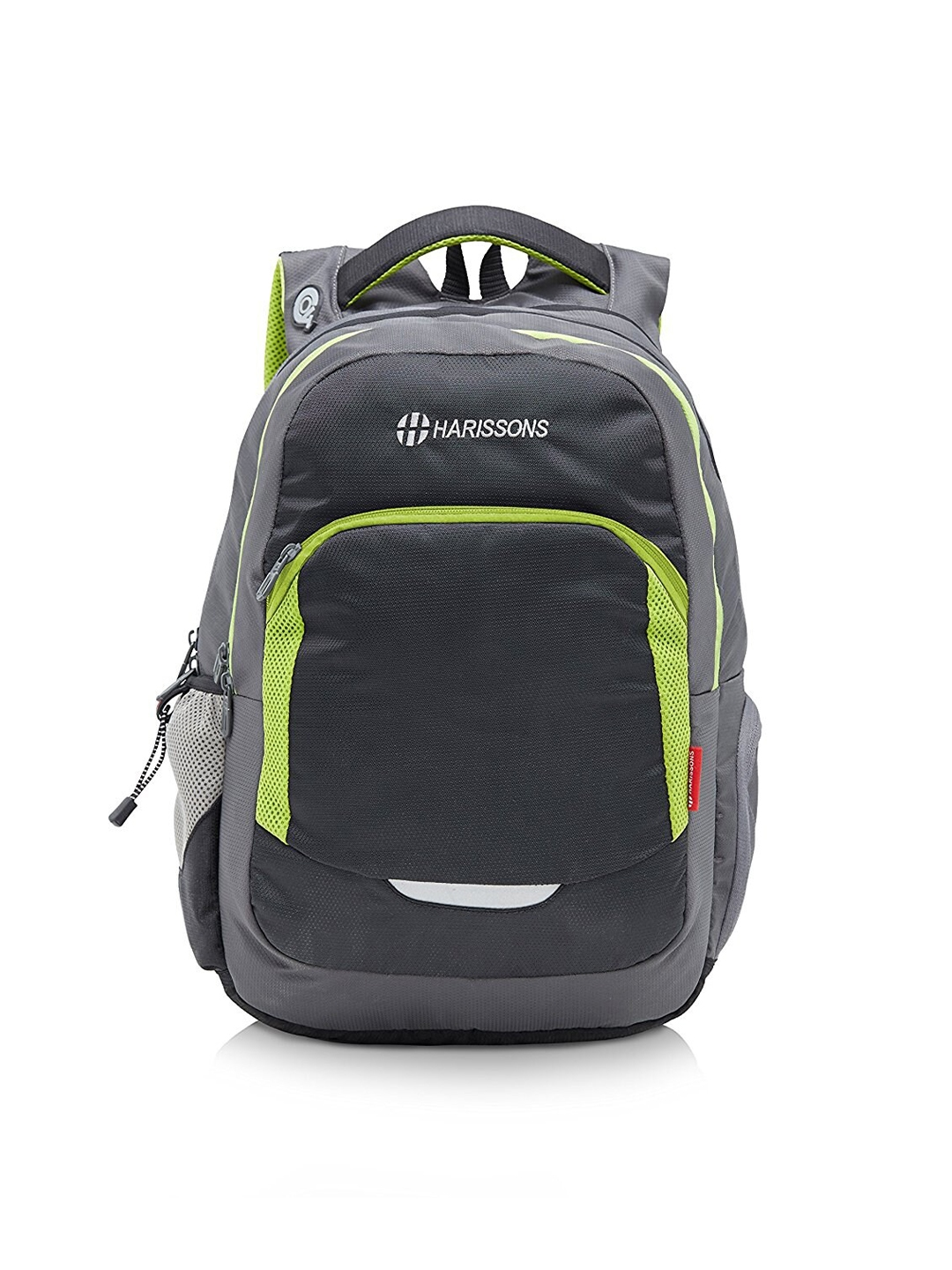Harissons Black   Green 15 Inch Colourblocked Laptop Backpack