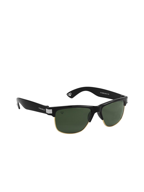 Walrus Men Green Lens   Black Wayfarer Sunglasses WSGM LEVI II 040602