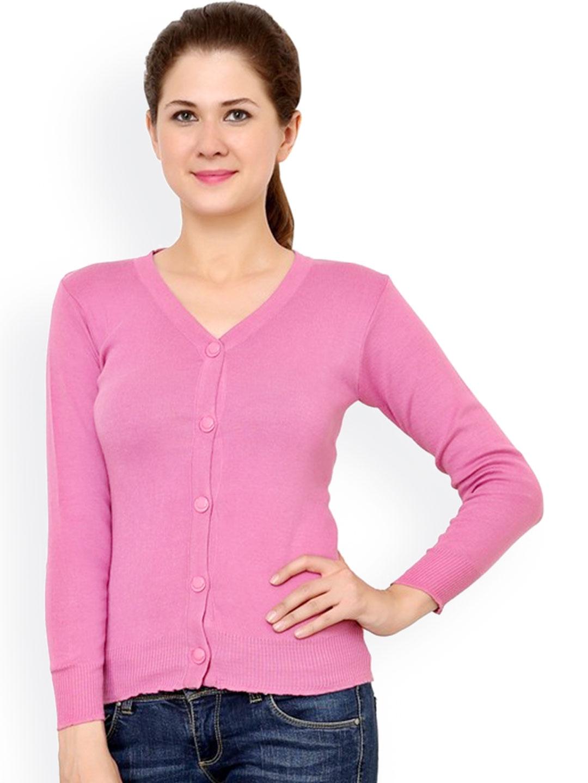 a6ea6616c4 Buy Renka Pink Cardigan - Sweaters for Women 1024476