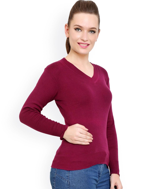 29df0eac38 Buy Renka Maroon Sweater - Sweaters for Women 1024559