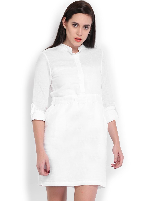 42676294933 Buy U.S. Polo Assn. Women White Linen Shirt Dress - Dresses for ...