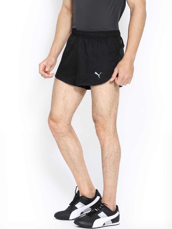 5b6beb88dc Buy Puma Men Black Split Running Shorts - Shorts for Men 246959   Myntra