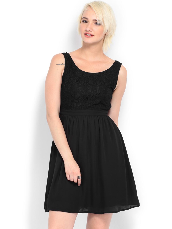 486650e1d6d51 Buy Vero Moda Black Fit & Flare Dress - Dresses for Women 373662 ...