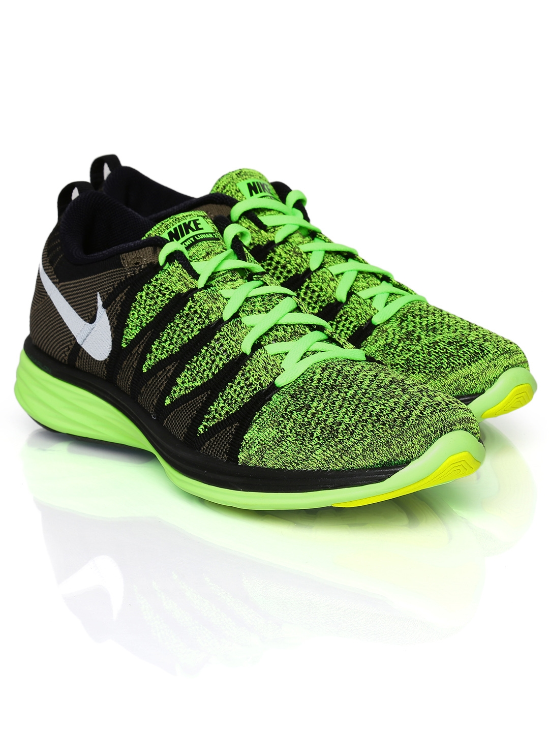 pretty nice 0752e 41159 Buy Nike Men Neon Green   Brown Flyknit Lunar2 Sports Shoes - Sports Shoes  for Men 379421   Myntra