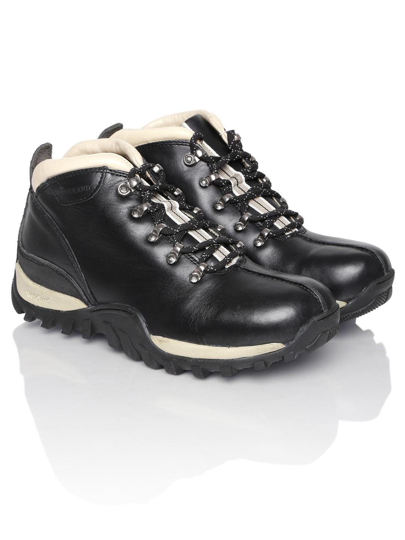 Buy Woodland Men Black Leather Casual