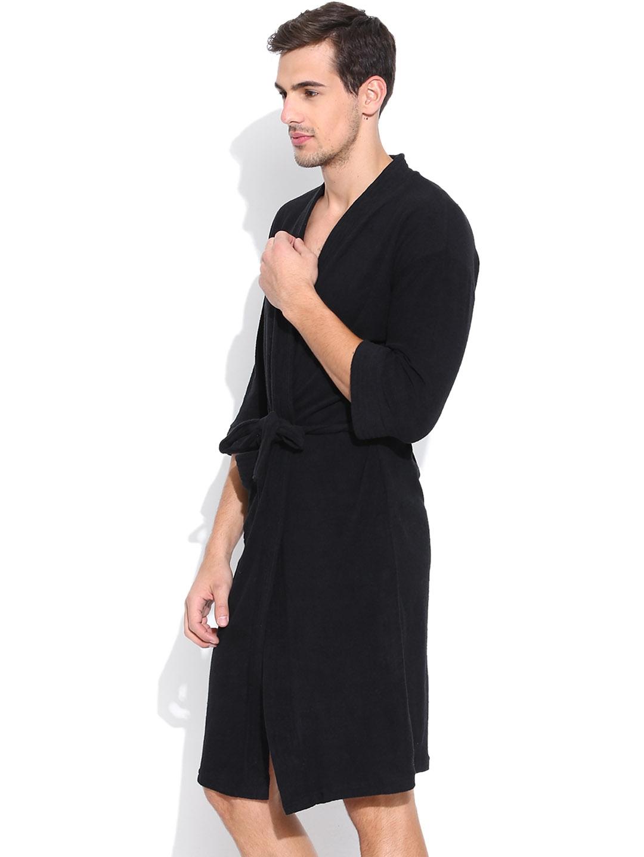 Buy Sand Dune Black Bathrobe - Bath Robe for Men 453706  6ee2ee0cd