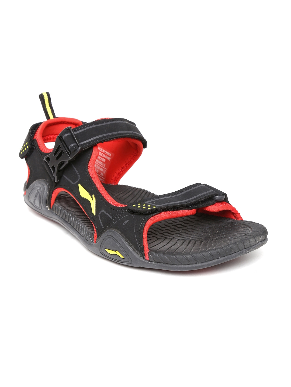 Li Ning Men Black   Red Anchor Sports Sandals