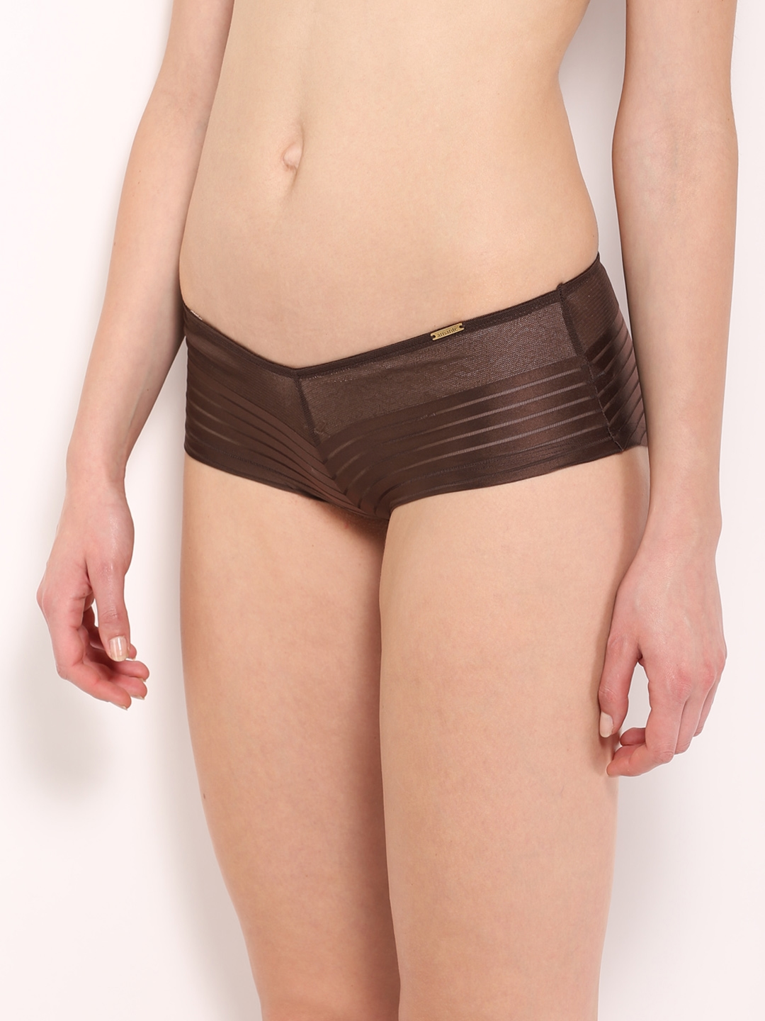 07052e0e3d62 Buy Amante Women Brown Self Striped Boyshorts PGSR02 - Briefs for ...