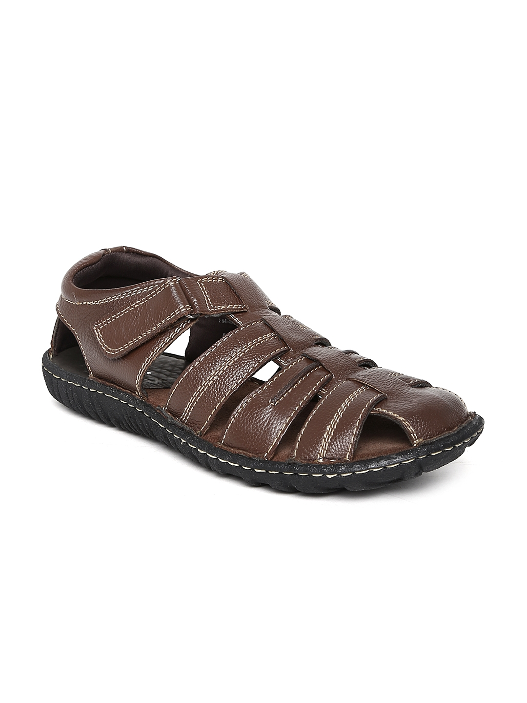 Buy Hush Puppies By Bata Men Brown Leather Sandals