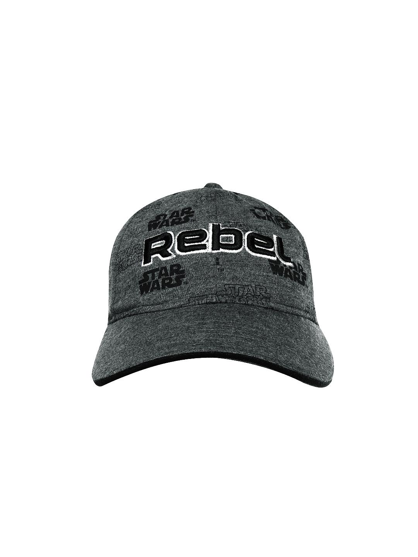 Buy Kook N Keech Star Wars Unisex Grey Melange Cap - Caps for Unisex ... 3f3041a0e2fd