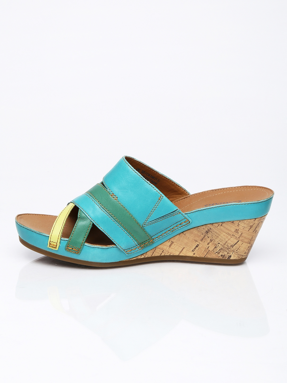 1cbae98b7 Buy Clarks Women Turquoise Blue   Green Wedges - Heels for Women ...