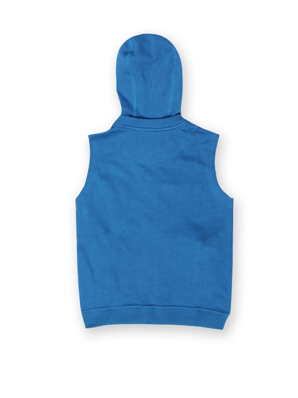 26b54827916e Buy U.S. Polo Assn. Kids Boys Blue Sleeveless Hooded Sweatshirt ...