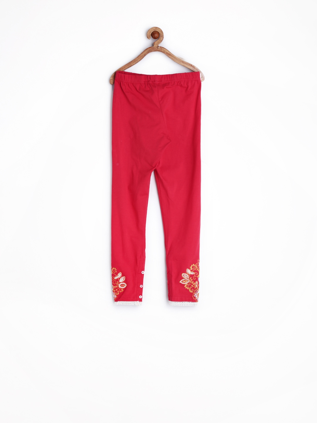 476f0bfc9bbd4 Buy BIBA Girls Red Leggings - Leggings for Girls 696659 | Myntra