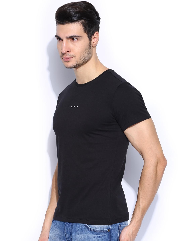 Buy Sisley Men Black Slim Fit T Shirt - Tshirts for Men 704630  dcf077907