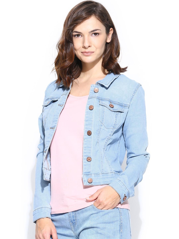 b7ae904f50e3 Buy Vero Moda Women Light Blue Denim Jacket - Jackets for Women 706966