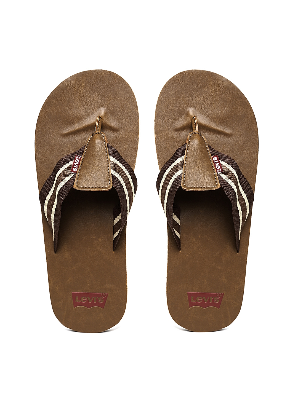 1022358cccd02c Buy Levis Men Brown Striped Flip Flops - Flip Flops for Men 724327 ...