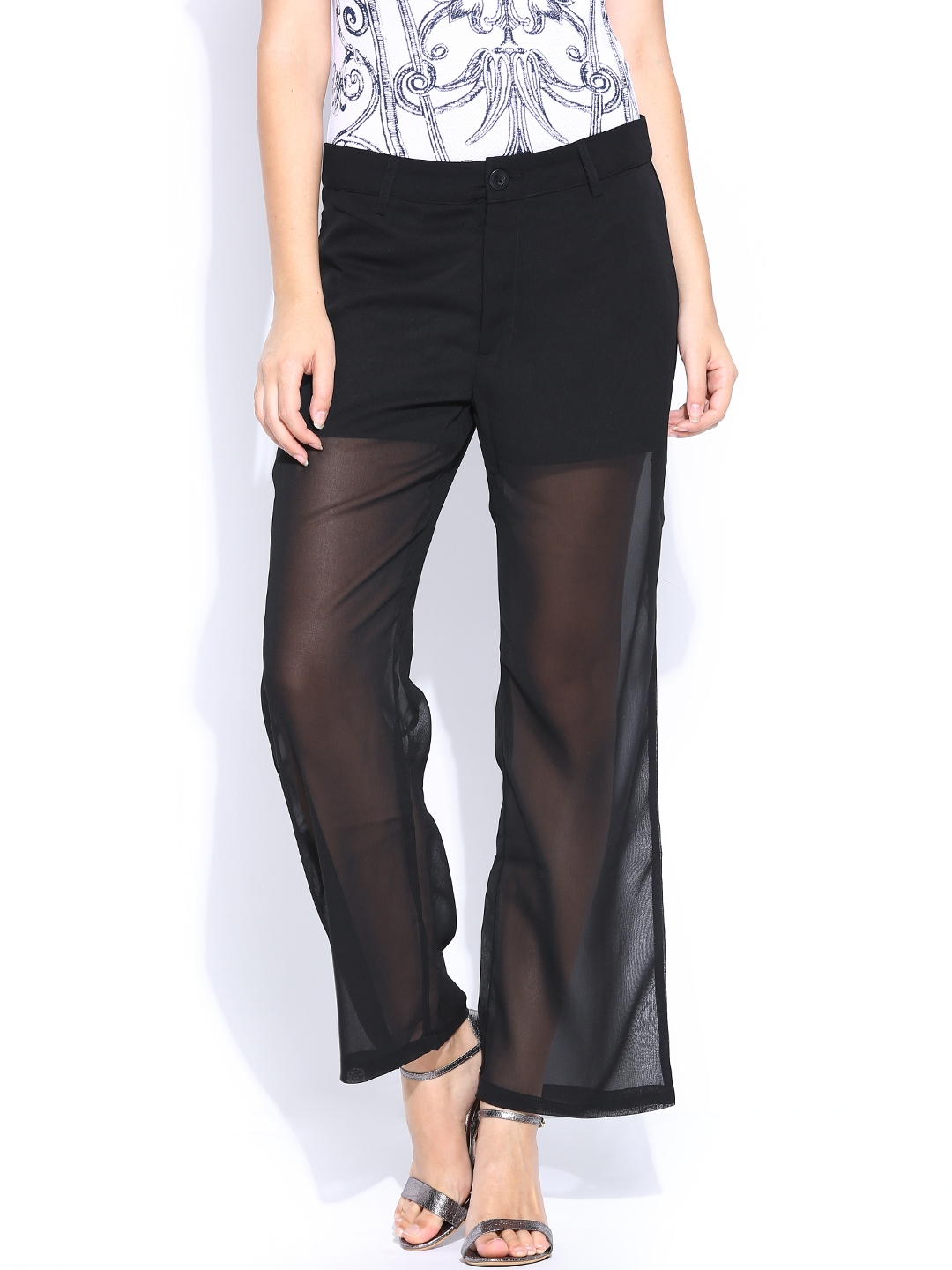 United Colors of Benetton Women Black Trousers