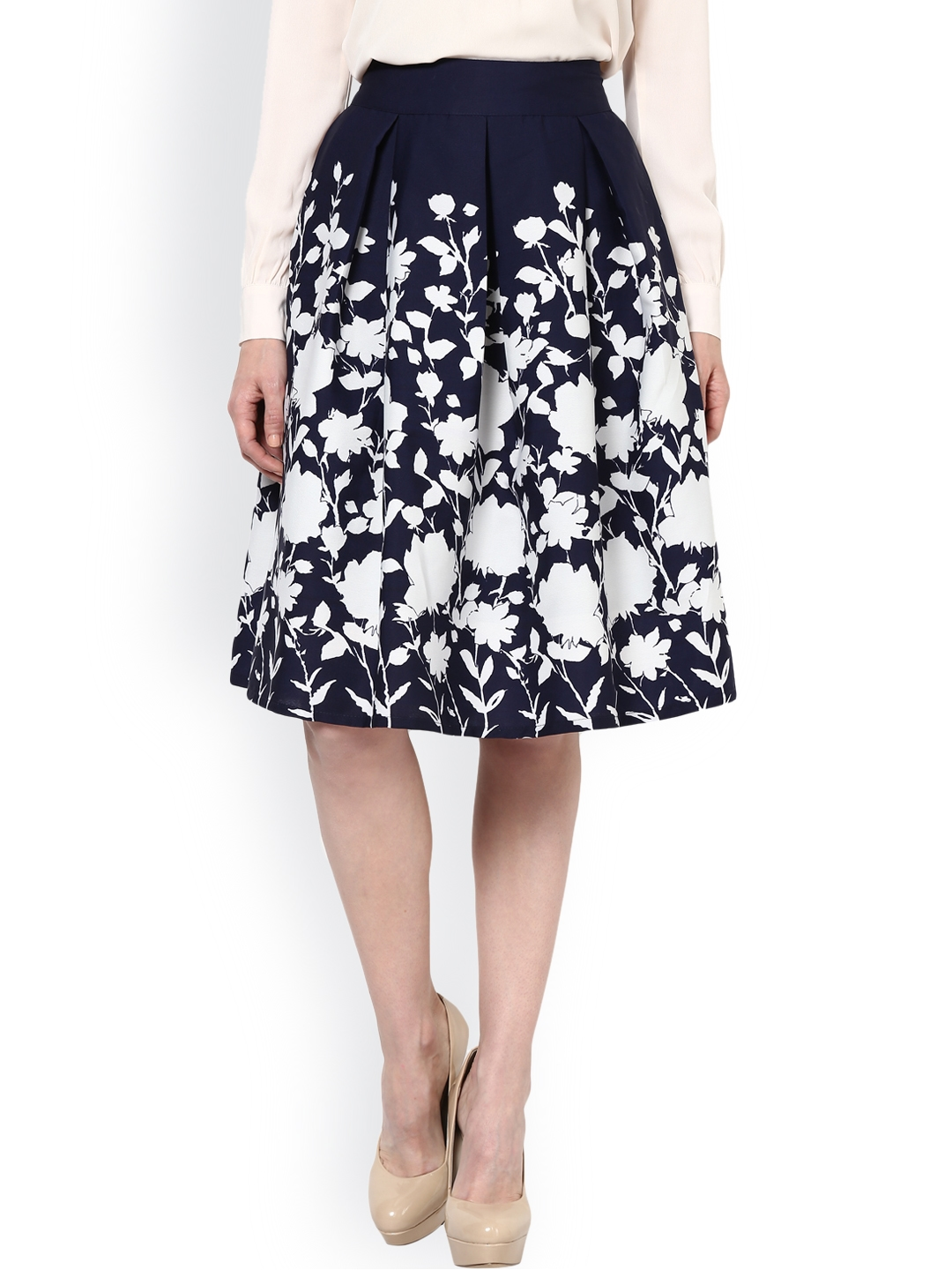 1b4afc2e85 Buy Harpa Navy Printed A Line Skirt - Skirts for Women 733716 | Myntra