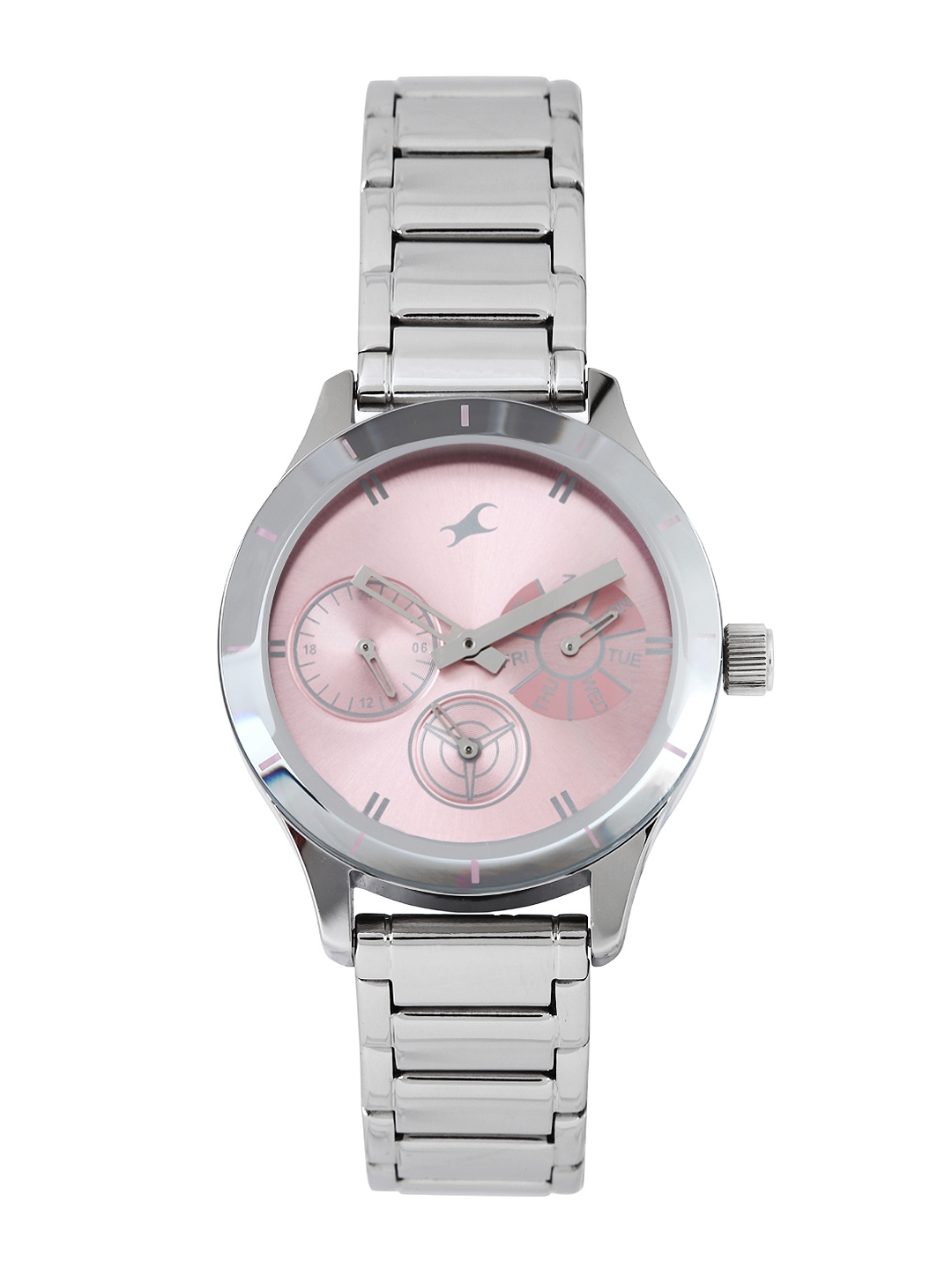 Fastrack Women Pink Dial Watch 6078SM07