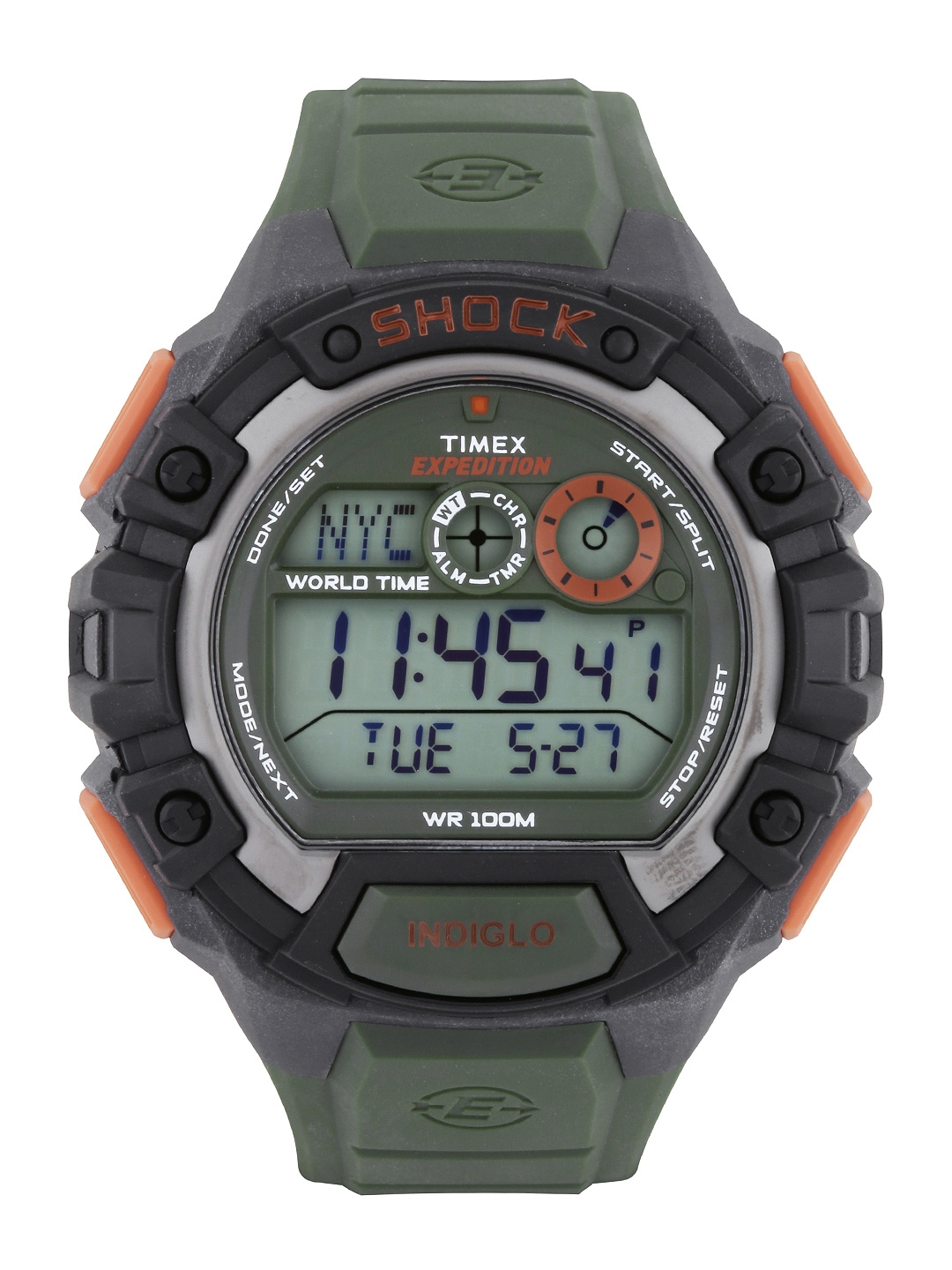 a4bc0b15f1d9 Buy Timex Expedition Men Olive Green Digital Watch T49972 - Watches ...