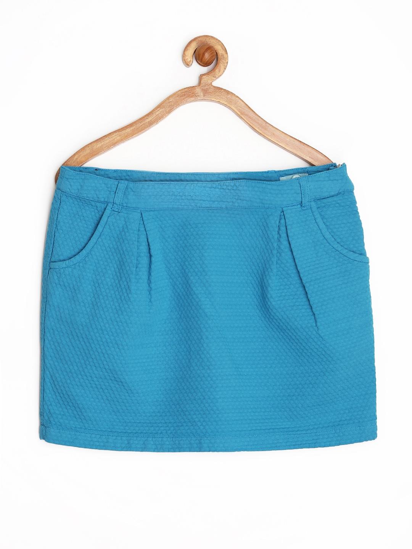 8d8114a91 Buy Allen Solly Junior Girls Blue Mini Skirt - Skirts for Girls ...