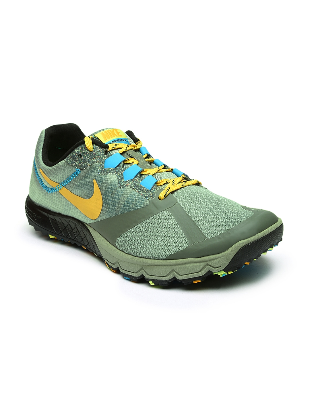 official photos 6960f 450b9 Nike Men Green Air Zoom Wildhorse 2 Running Shoes