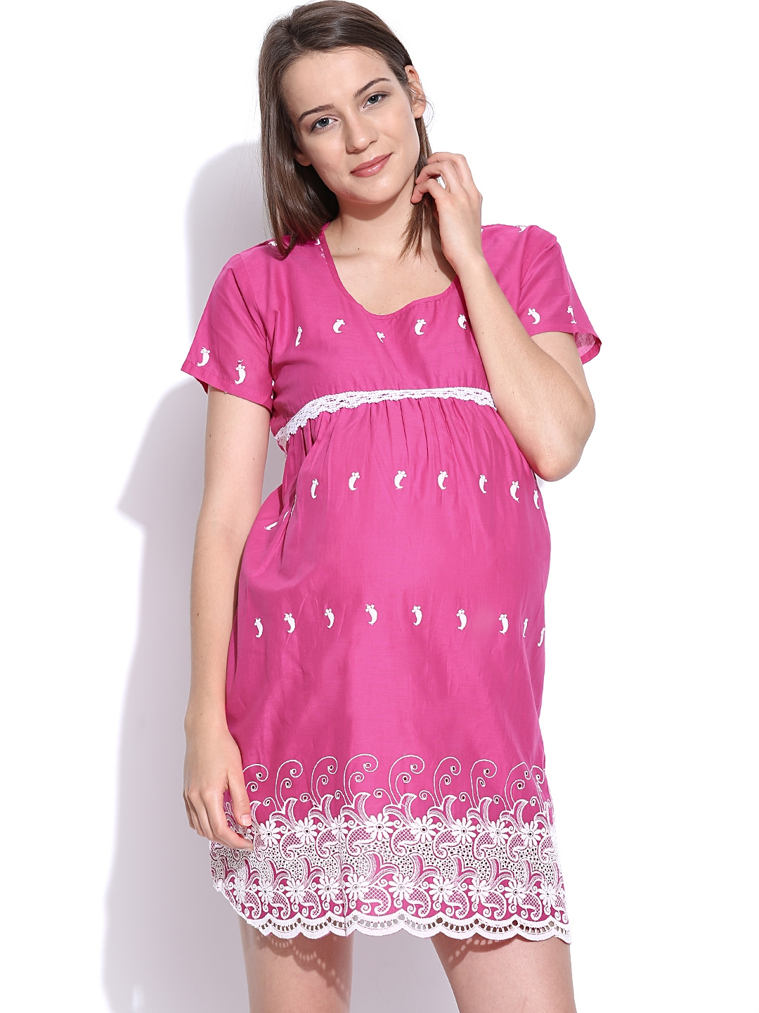 519e058897 Buy SDL By Sweet Dreams Pink Embroidered Maternity Sleepwear MET ...