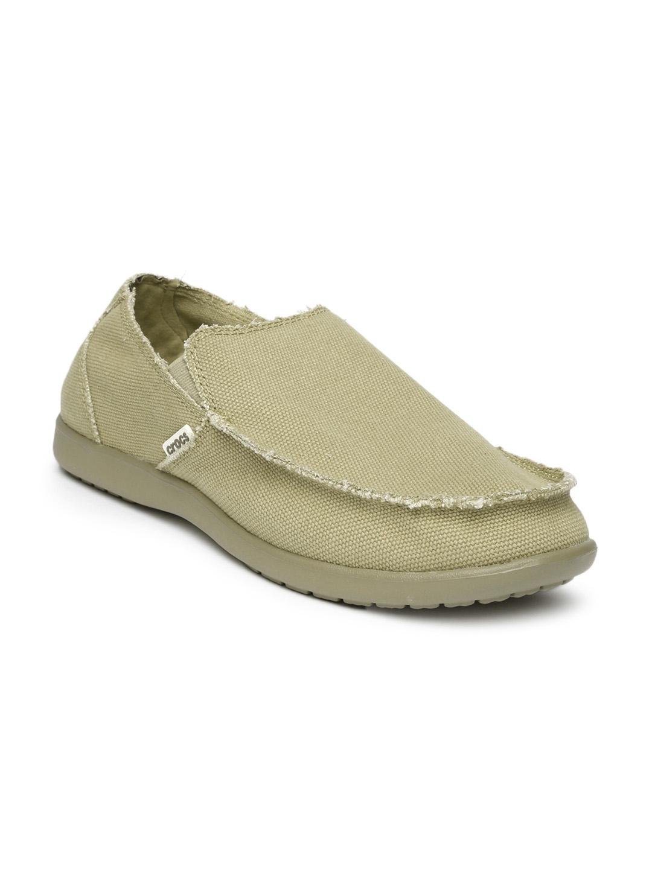 01b9bd65b45bfb Buy Crocs Men Khaki Brown Santa Cruz Slip Ons - Casual Shoes for Men ...