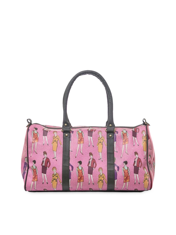 d14fbb366473 Buy BandBox Women Pink Printed Duffel Bag - Duffel Bag for Women ...