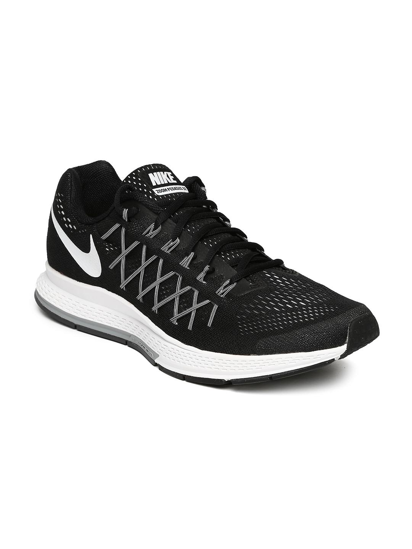 wholesale dealer 7391e 40263 Nike Men Black Air Zoom Pegasus 32 Running Shoes
