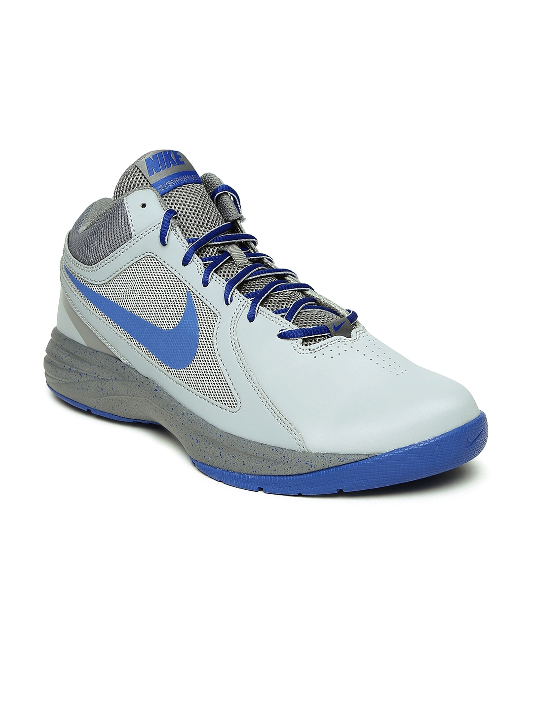 870e81638477 Buy Nike Men Grey Overplay VIII Leather Basketball Shoes - Sports ...