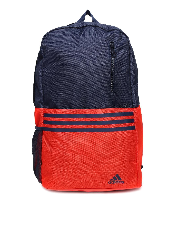 8d244e0b0f Buy ADIDAS Unisex Navy & Orange Versatile 3S Backpack - Backpacks for  Unisex 878055   Myntra