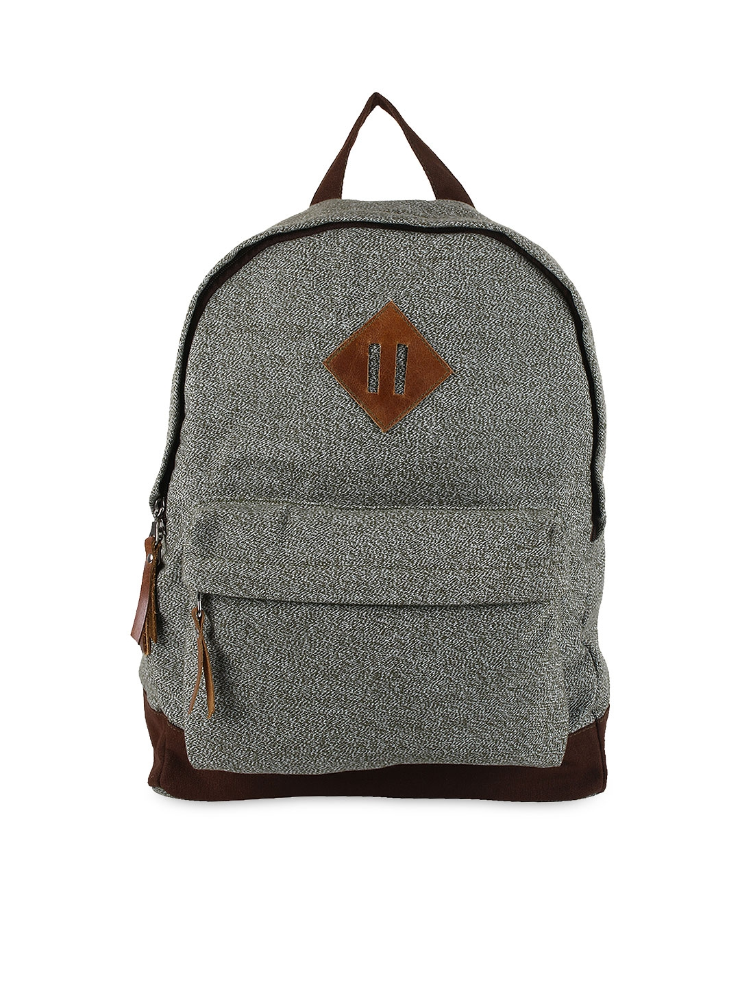 Anekaant Unisex Grey Basic Backpack