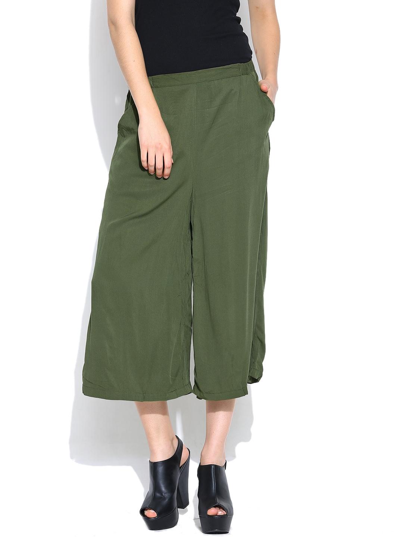 Vero Moda Olive Green Culottes