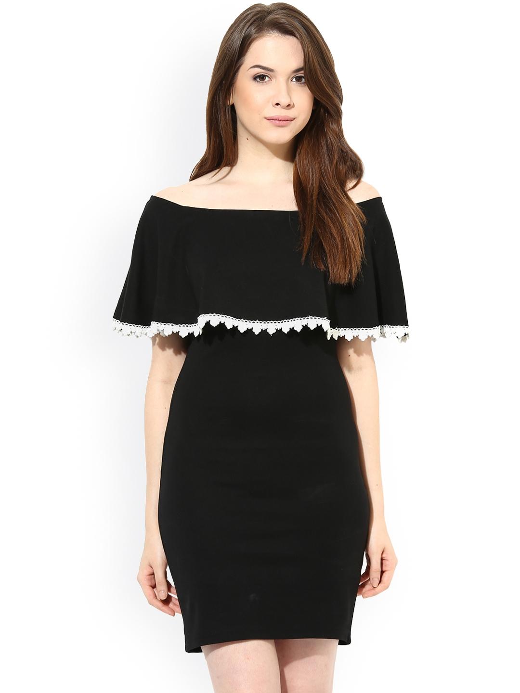 492d65309e75 Buy Harpa Black Off Shoulder Dress - Dresses for Women 934385