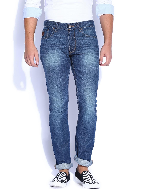 f946012678 Buy U.S. Polo Assn. Denim Co. Blue Woody Slim Straight Jeans - Jeans ...