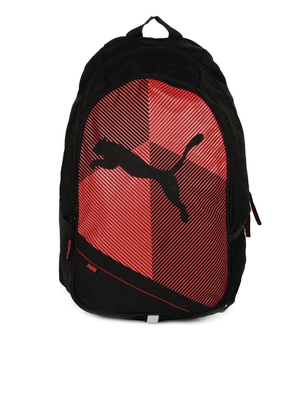 d5823055dece1 Buy PUMA Unisex Echo Plus Black   Red Backpack - Backpacks for ...